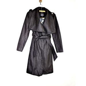 Ted Baker London Cashmere Blend Black Trench Coat